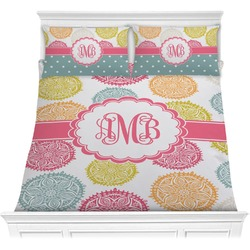Doily Pattern Comforter Set (Personalized)