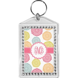 Doily Pattern Bling Keychain (Personalized)