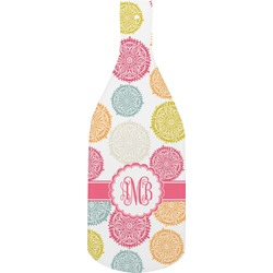 Doily Pattern Bottle Shaped Cutting Board (Personalized)