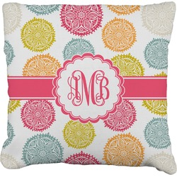 Doily Pattern Burlap Pillow Case (Personalized)