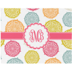 Doily Pattern Woven Fabric Placemat - Twill w/ Monogram