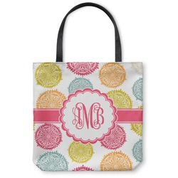 Doily Pattern Canvas Tote Bag (Personalized)
