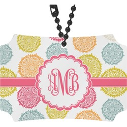 Doily Pattern Rear View Mirror Ornament (Personalized)