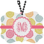 Doily Pattern Rear View Mirror Charm (Personalized)