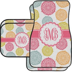 Doily Pattern Car Floor Mats Set - 2 Front & 2 Back (Personalized)