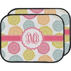 Doily Pattern Car Floor Mats (Back Seat) (Personalized)
