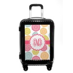 Doily Pattern Carry On Hard Shell Suitcase (Personalized)