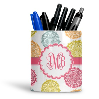 Doily Pattern Ceramic Pen Holder
