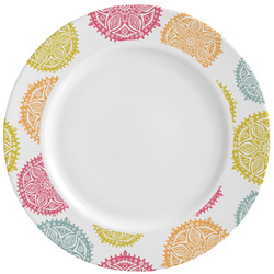Doily Pattern Ceramic Dinner Plates (Set of 4) (Personalized)