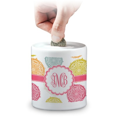 Doily Pattern Coin Bank (Personalized)