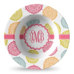 Doily Pattern Plastic Bowl - Microwave Safe - Composite Polymer (Personalized)