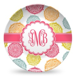 Doily Pattern Microwave Safe Plastic Plate - Composite Polymer (Personalized)
