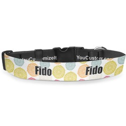 Doily Pattern Deluxe Dog Collar (Personalized)