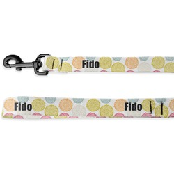 Doily Pattern Deluxe Dog Leash - 4 ft (Personalized)
