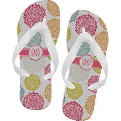 Doily Pattern Flip Flops (Personalized)