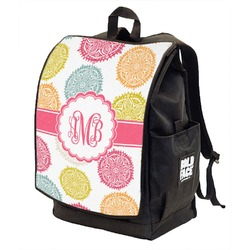 Doily Pattern Backpack w/ Front Flap  (Personalized)