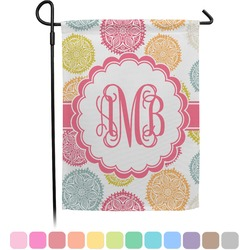 Doily Pattern Garden Flag (Personalized)