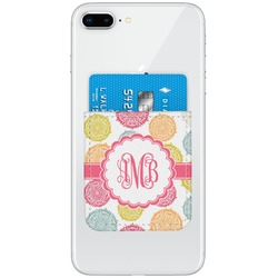 Doily Pattern Genuine Leather Adhesive Phone Wallet (Personalized)