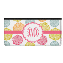 Doily Pattern Genuine Leather Checkbook Cover (Personalized)