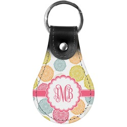 Doily Pattern Genuine Leather  Keychains (Personalized)