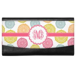 Doily Pattern Genuine Leather Ladies Wallet w/ Monogram