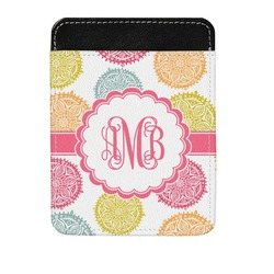 Doily Pattern Genuine Leather Money Clip (Personalized)