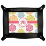 Doily Pattern Genuine Leather Valet Tray (Personalized)