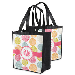 Doily Pattern Grocery Bag (Personalized)