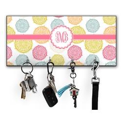 Doily Pattern Key Hanger w/ 4 Hooks w/ Monogram