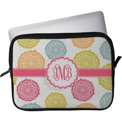 "Doily Pattern Laptop Sleeve / Case - 13"" (Personalized)"