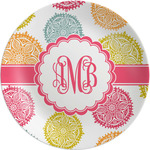 Doily Pattern Melamine Plate (Personalized)