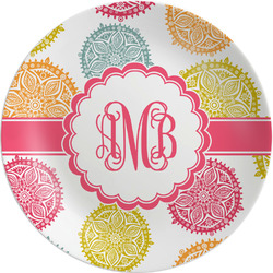 "Doily Pattern Melamine Plate - 8"" (Personalized)"