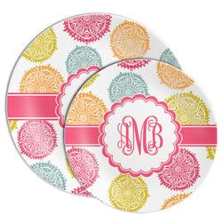 Doily Pattern Melamine Plate (Personalized)