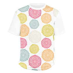 Doily Pattern Men's Crew T-Shirt (Personalized)