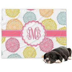 Doily Pattern Minky Dog Blanket (Personalized)