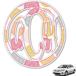 Doily Pattern Monogram Car Decal (Personalized)