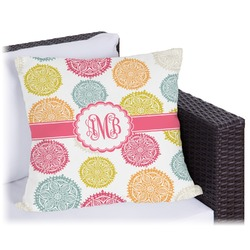 Doily Pattern Outdoor Pillow (Personalized)