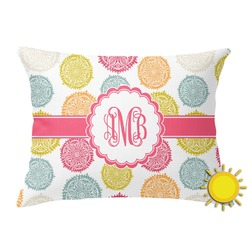 Doily Pattern Outdoor Throw Pillow (Rectangular) (Personalized)