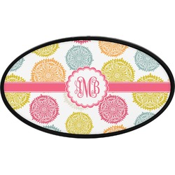 Doily Pattern Oval Trailer Hitch Cover (Personalized)
