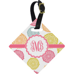 Doily Pattern Diamond Luggage Tag (Personalized)