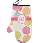 Doily Pattern Left Oven Mitt (Personalized)