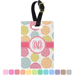 Doily Pattern Rectangular Luggage Tag (Personalized)