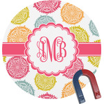 Doily Pattern Round Magnet (Personalized)