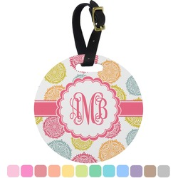 Doily Pattern Round Luggage Tag (Personalized)