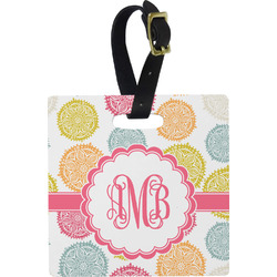 Doily Pattern Square Luggage Tag (Personalized)