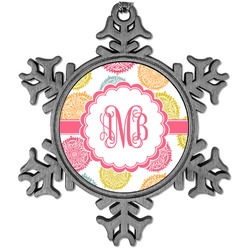 Doily Pattern Vintage Snowflake Ornament (Personalized)