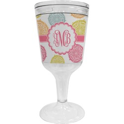 Doily Pattern Wine Tumbler (Personalized)