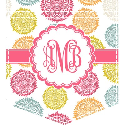 Doily Pattern Iron On Faux Pocket (Personalized)