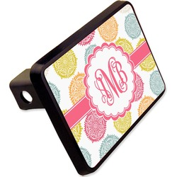 "Doily Pattern Rectangular Trailer Hitch Cover - 2"" (Personalized)"