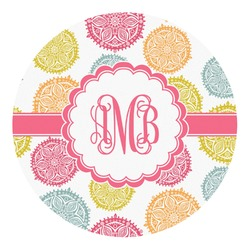 Doily Pattern Round Decal (Personalized)